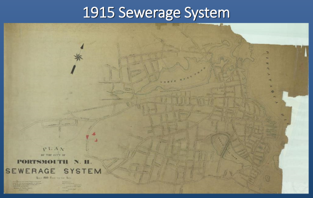1915 sewer system map