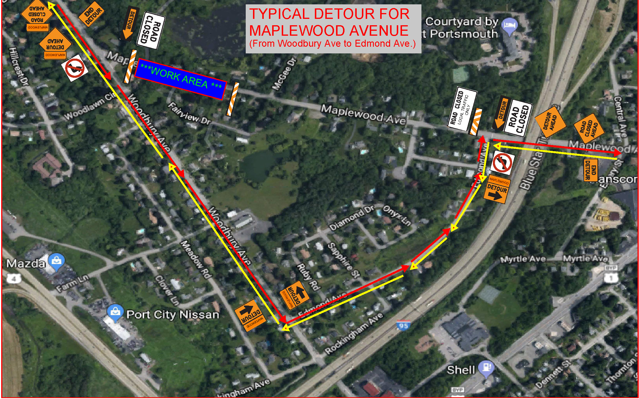 Maplewood Ave Detour