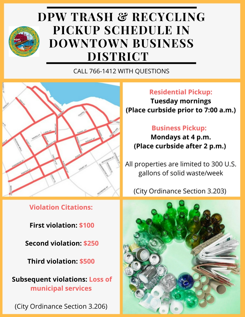 Downtown Business District Collection Schedule