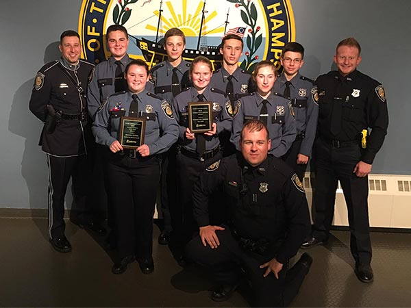 Police Explorers Unit receiving awards