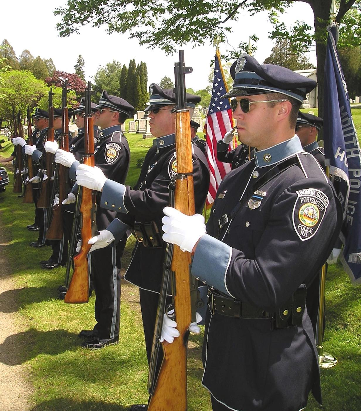 Honor Guard lined up at a cemetery