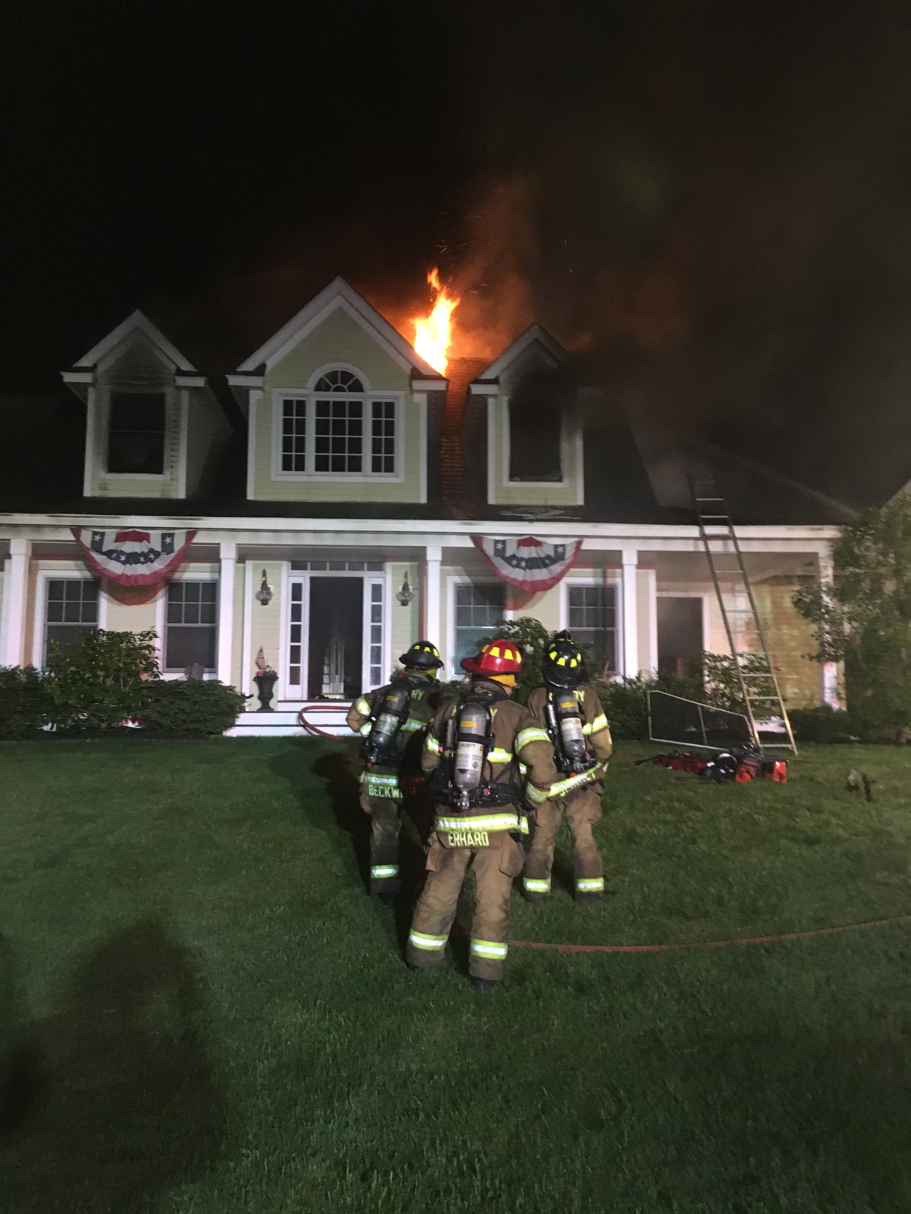 Burning House Fire