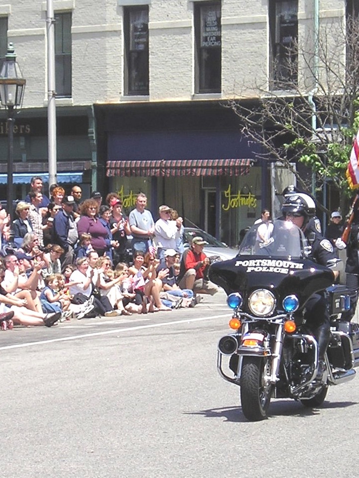 Motorcycle Police riding in parade