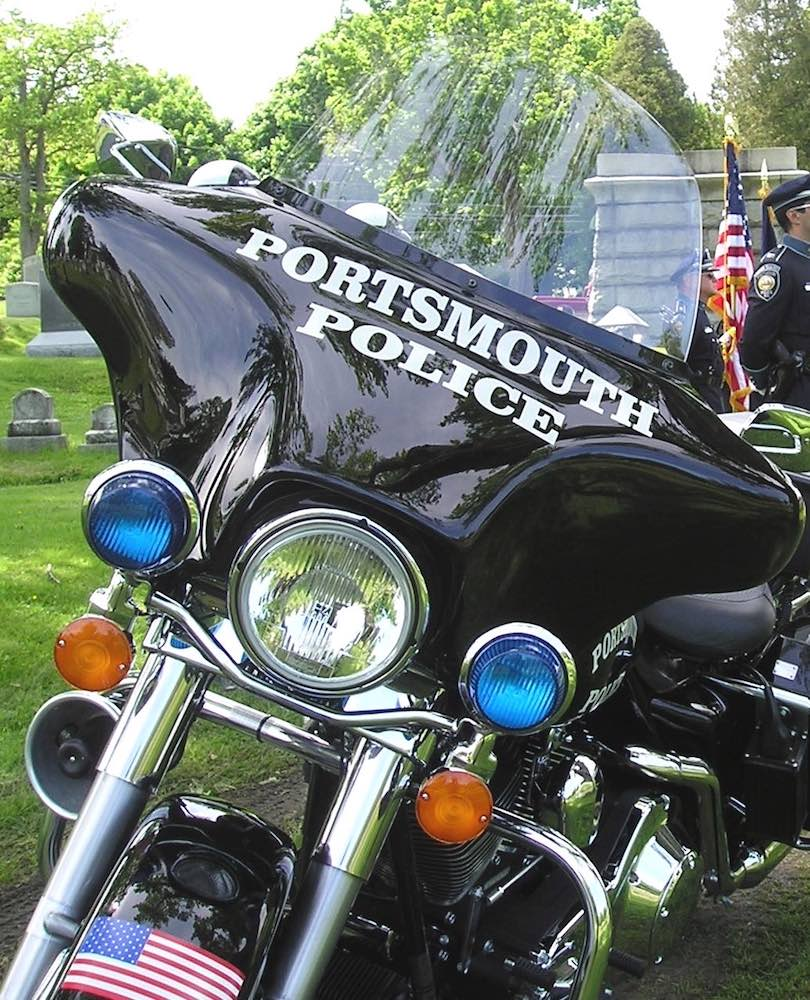 Police Motorcycle close-up