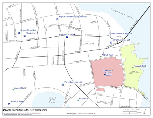 Map of Downtown Portsmouth