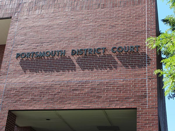 Portsmouth District Court sign