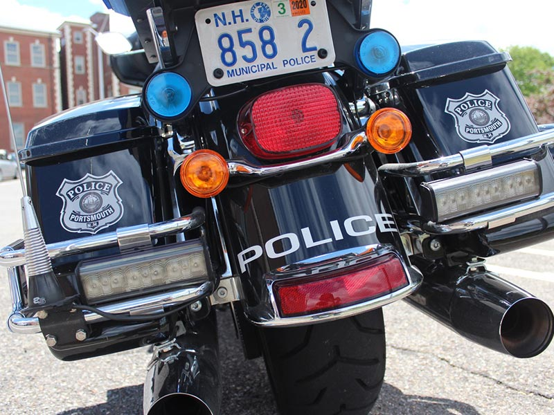 Rear of a Police Motorcycle