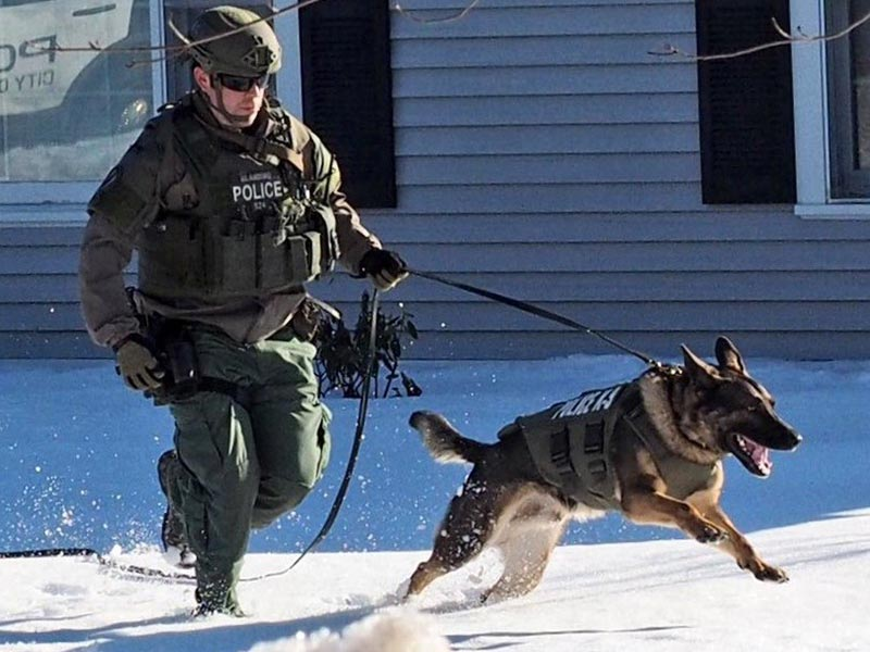 SERT Officer with K-9