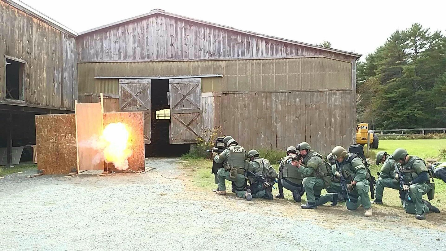 SERT train with explosives
