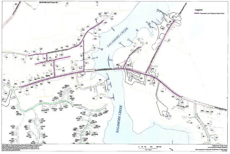 Map of Sagamore Ave. Sewer Extension Project