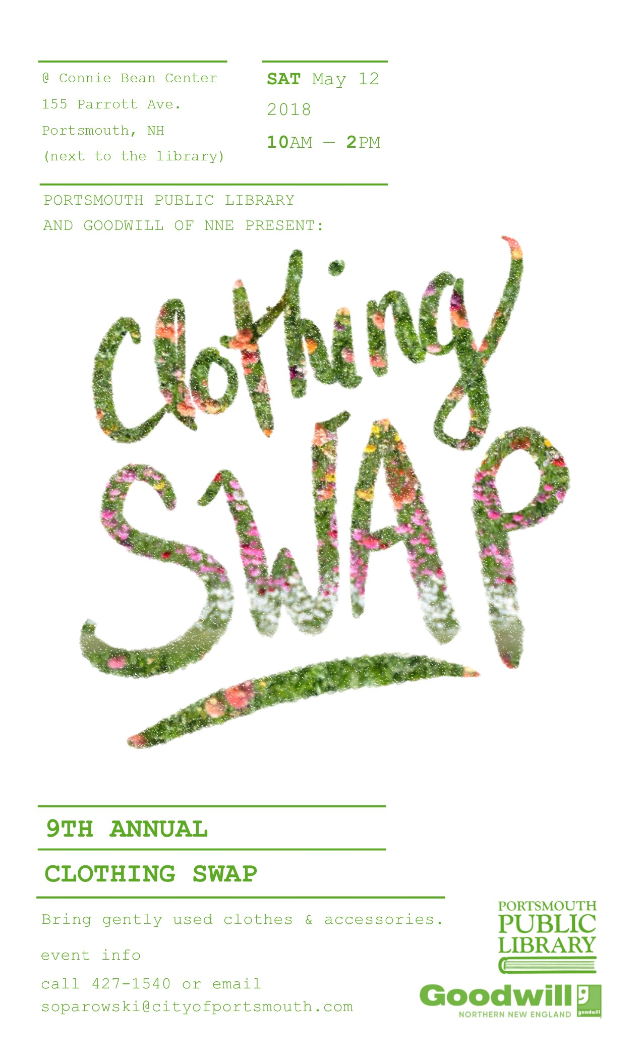 9th annual clothing swap saturday may 12 city of portsmouth swapposter fandeluxe Gallery