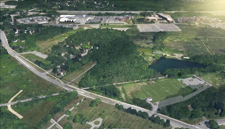 Overhead view of Bike Trail Route