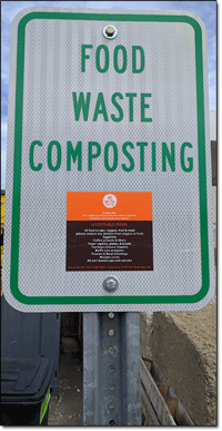 Food Waste Composting Sign