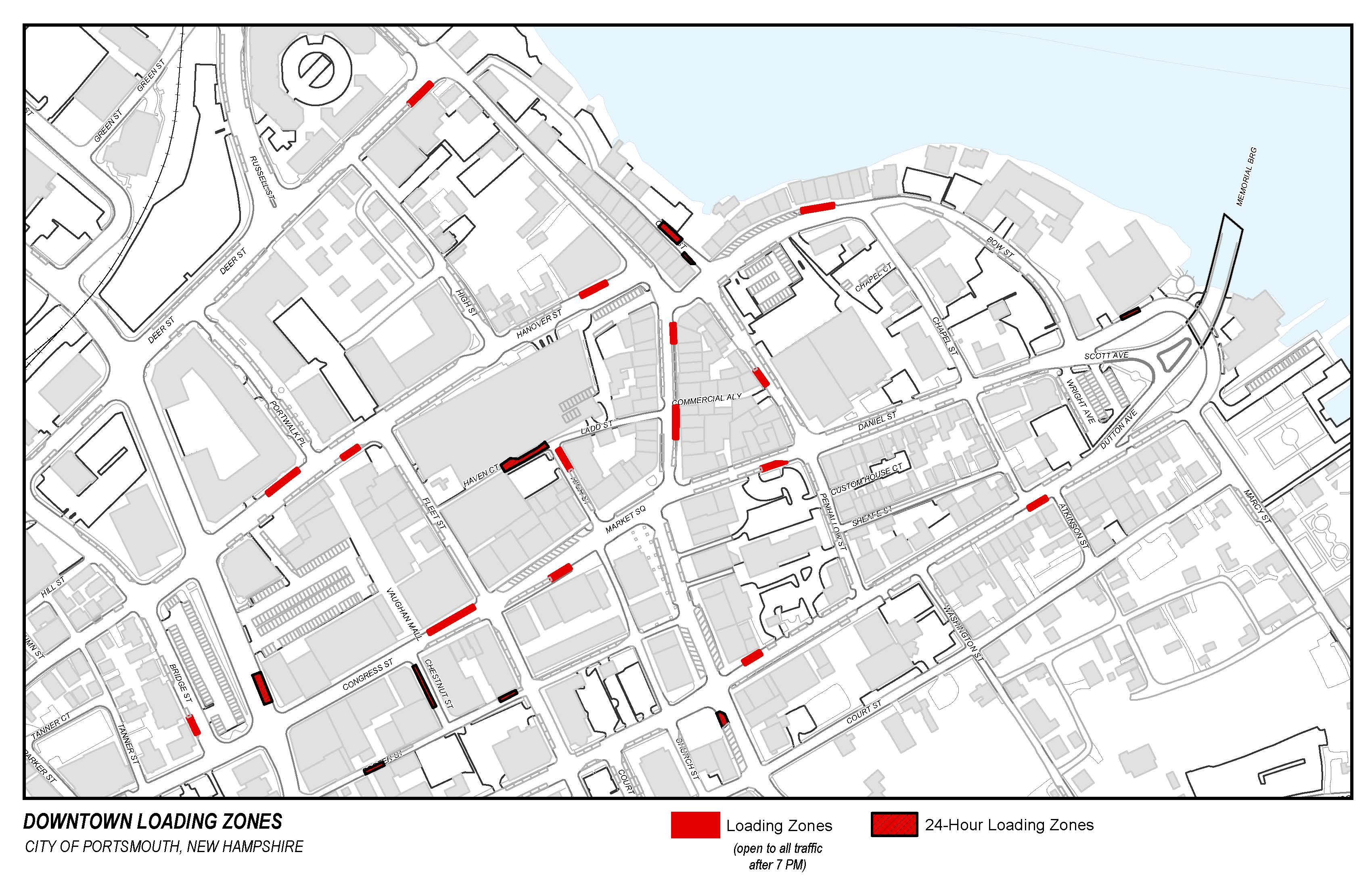 Downtown Loading Zones Map