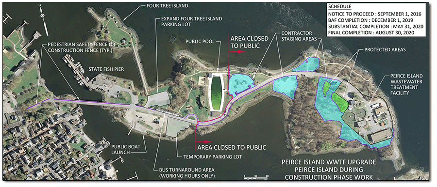 Map of Peirce Island Project Area