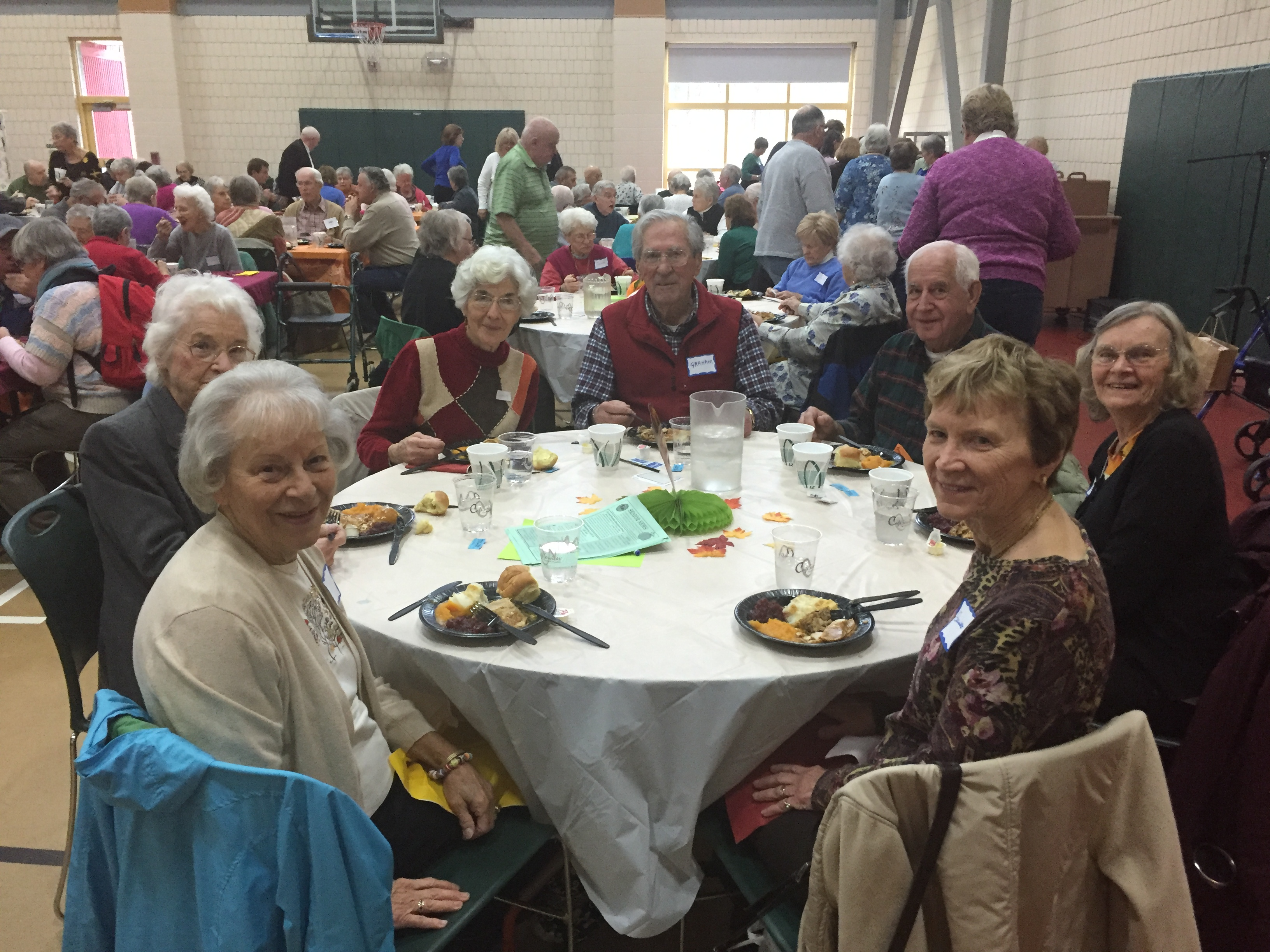 Thanksgiving luncheon at the senior center