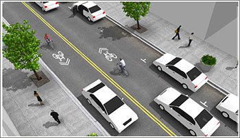 Shared Bike Lane Concept