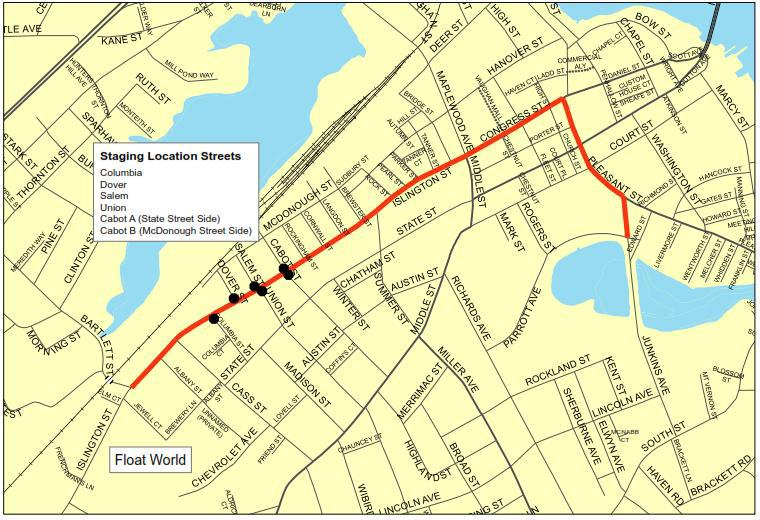 Holiday Parade Route