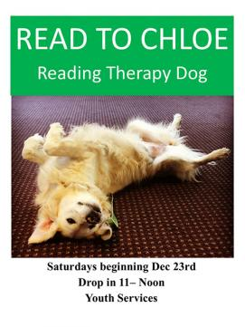Read to Chloe- link to event details