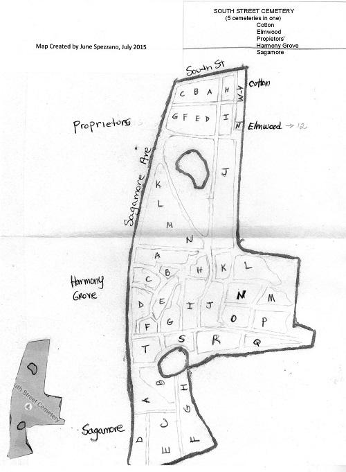 Portsmouth South Street Cemetery map