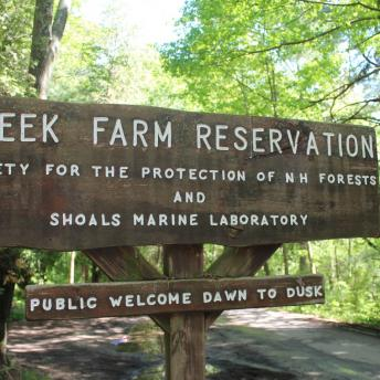 Creek Farm Reservation sign