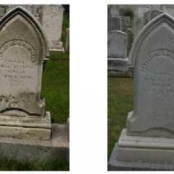 Gravestone 3 Before & After