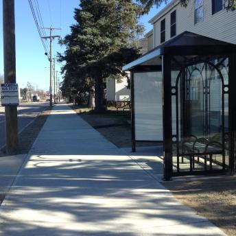 Gosling Road Bicycle and Pedestrian Improvements with Bus Shelter
