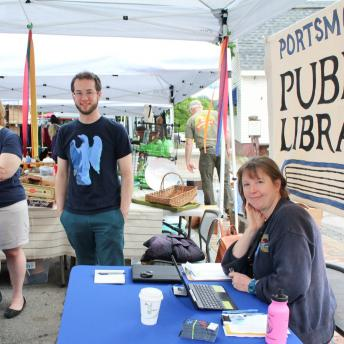 Public Library table at the How To Festival