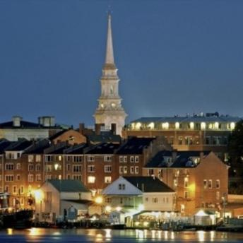 Skyline of Portsmouth with North Church steeple