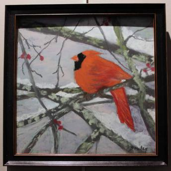 Cardinal in the Snow by Barbara Barclay