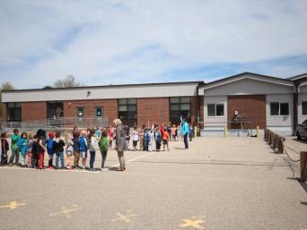 Recess Line at New Franklin School