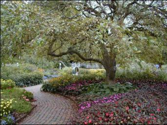 Walkway In The Formal Garden at Prescott Park