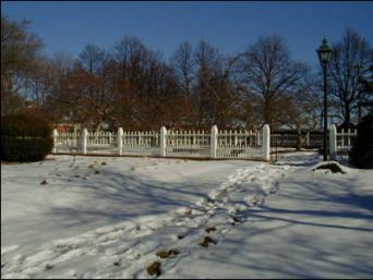The Formal Garden In Winter at Prescott Park
