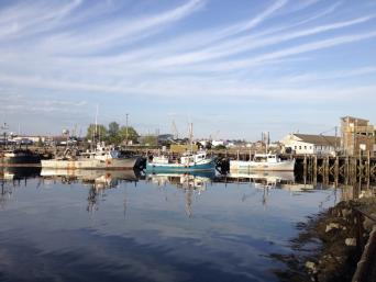 Fishing boats at Portsmouth Harbor