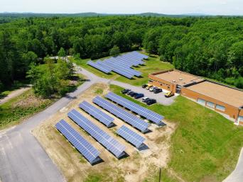 Solar array at Madbury Water Treatment Plant