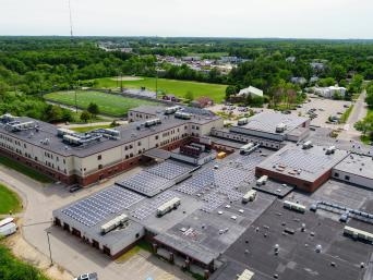 Solar array at Portsmouth High School