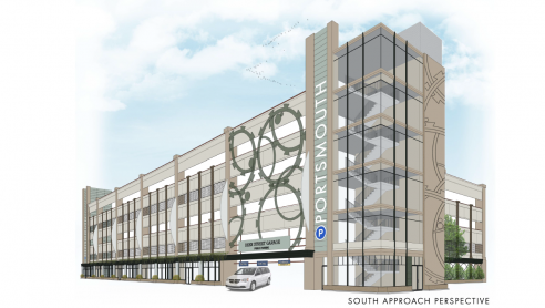 Day View Rendering of Foundry Place Garage
