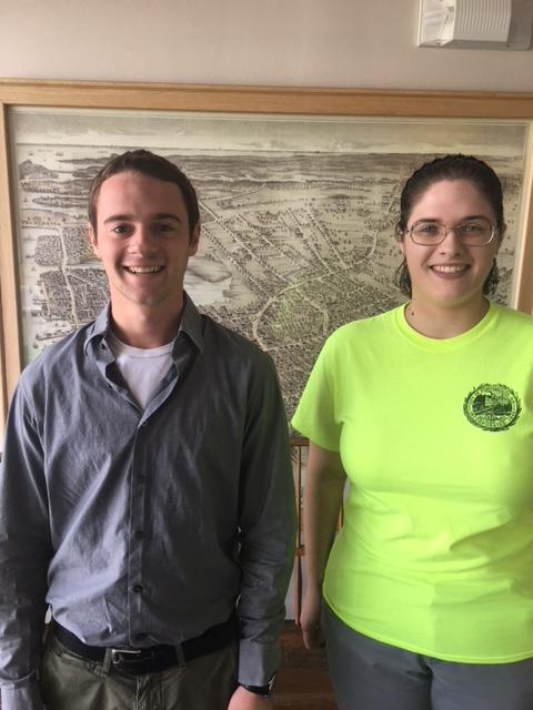Interns Jacob Kostandin and Taylor Patterson