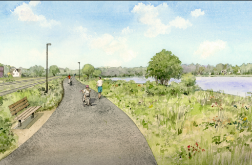 Rendering of the trail
