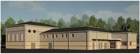 Rendering of new water treatment system