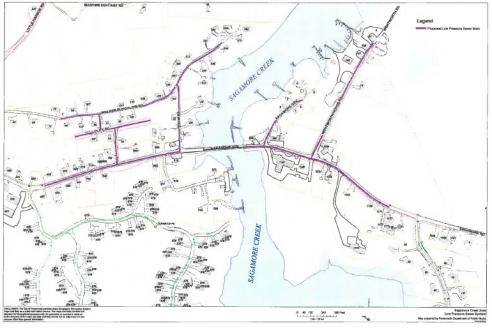 MAP Projected Sagamore Ave Sewer Extension Project