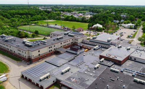 Portsmouth High School solar arrays